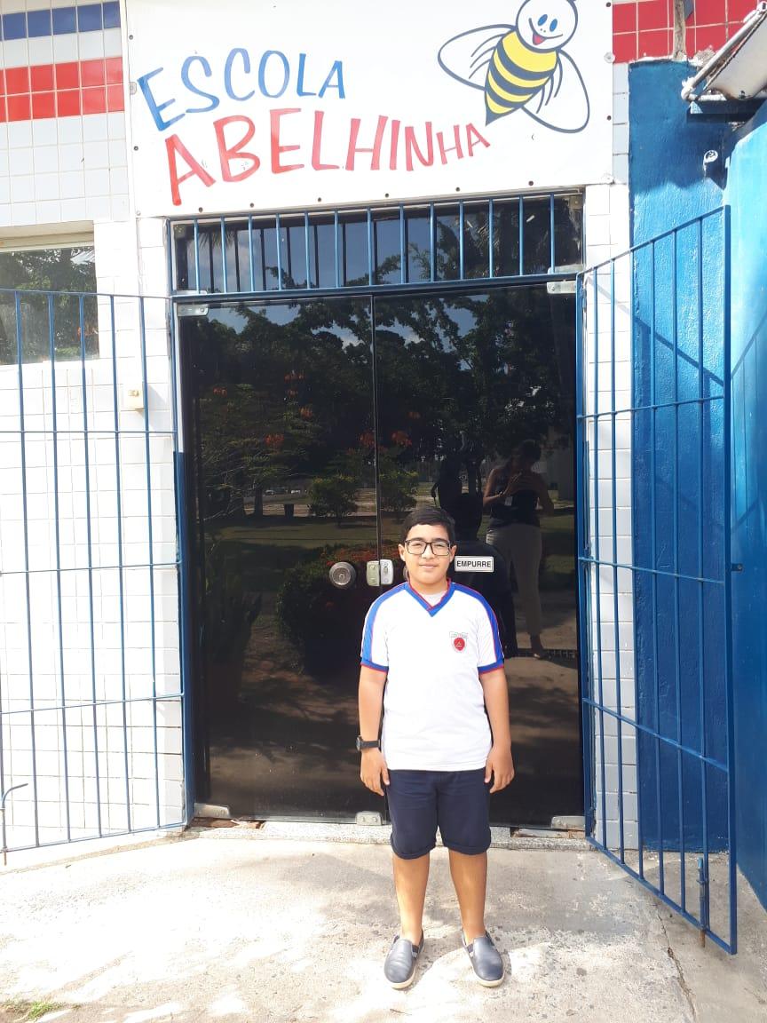 O aluno da Escola Abelhinha - Colégio de Aplicação da UNIVERSO é aprovado no Colégio de Aplicação da Universidade Federal de Pernambuco 1